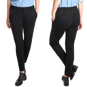 American Giant The Cigarette Pant Stretch Ponte Knit Slim Straight Mid Rise